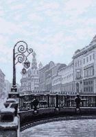"""Вышивка крестом """"Итальянский мост. Санкт-Петербург"""" (190х270 мм)"""