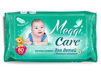 """Влажные салфетки детские """"Meggi Care. С детским лосьоном"""" (80 шт.)"""