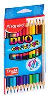 """Набор карандашей цветных """"Color Peps Duo"""" (12 шт.; 24 цвета)"""