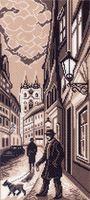 "Канва с нанесенным рисунком ""Старый город"" (арт. 1432)"