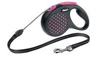"""Поводок-рулетка для собак """"Design"""" (розовый, размер S, до 12 кг/5 м)"""