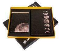 """Подарочный набор """"Луна"""" (обложка на паспорт и зажим для денег)"""