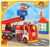 """Конструктор """"Мастер малыш. Пожарная машина"""" (30 деталей)"""