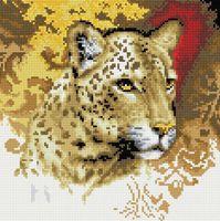 """Алмазная вышивка-мозаика """"Портрет леопарда"""" (300х300 мм)"""