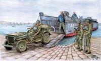 """Десантный катер """"LCVP W/ 1/4 T.UTILITY TRUCK"""" (масштаб: 1/35)"""