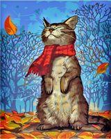 "Картина по номерам ""Кот в шарфе"" (500х400 мм)"