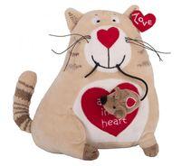 """Мягкая игрушка """"Кот и мышь. Любовь с первого взгляда"""" (20 см)"""