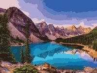 """Картина по номерам """"Озеро в горах"""" (400х500 мм)"""