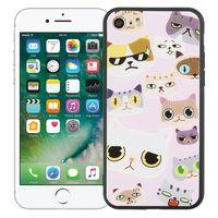 """Чехол для iPhone 7/8 """"Крутые коты"""" (розовый)"""