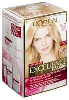 """Крем-краска для волос """"Excellence"""" (тон: 10.21, светло-светло-русый перламутровый осветляющий)"""