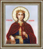 """Вышивка бисером """"Святая Великомученица Екатерина"""""""