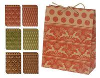 """Пакет бумажный подарочный """"Новогодние узоры"""" (в ассортименте; 18x8x23 см, арт. ABD002310)"""