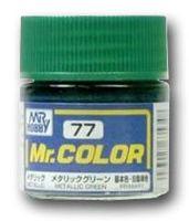 Краска Mr. Color (metallic green, C77)