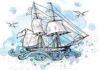 """Открытка """"Корабль"""""""