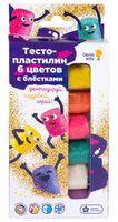 """Тесто для лепки """"Тесто-пластилин с блестками"""" (6 цветов)"""