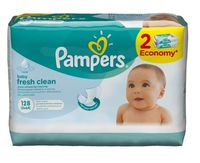 """Влажные салфетки детские """"Pampers Baby Fresh"""" (128 шт.)"""
