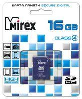 Карта памяти SDHC 16Gb Mirex Class 4
