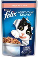 """Пресервы для кошек """"Аппетитные кусочки"""" (85 г; лосось в желе)"""