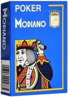 """Карты для покера """"Modiano Poker"""" (голубая рубашка)"""