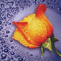 """Алмазная вышивка-мозаика """"Жёлтая роза"""" (250х250 мм)"""