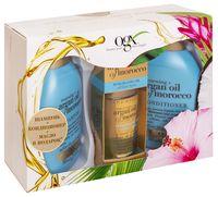 """Подарочный набор """"OGX. Argan Oil Of Morocco"""" (шампунь, кондиционер, масло)"""