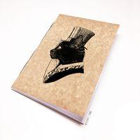 """Блокнот крафт """"Кот джентльмен"""" А7 (795)"""