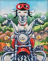 "Алмазная вышивка-мозаика ""Пёс байкер"""