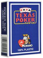 """Карты для покера """"Modiano Texas Poker"""" (синяя рубашка)"""