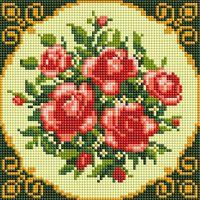 """Алмазная вышивка-мозаика """"Чайные розы"""" (200х200 мм)"""