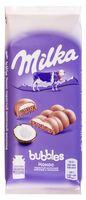 "Шоколад молочный ""Milka. Bubbles. Кокос"" (97 г)"