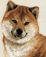 """Вышивка шерстяными нитками """"Японская лайка"""" (арт. 1280)"""