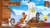 """Конструктор """"Пираты. Пираты на лодке с парусом"""" (44 детали)"""