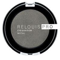 "Тени для век ""Relouis Pro Eyeshadow Metal"" (тон: 55, anthracite)"