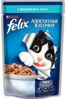 """Пресервы для кошек """"Аппетитные кусочки"""" (85 г; форель в желе)"""