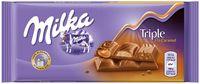 """Шоколад молочный """"Milka. Triple. Карамель"""" (90 г)"""