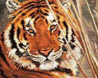 """Вышивка крестом """"Тигр"""" (350х280 мм)"""
