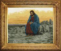 """Вышивка крестом """"Иисус"""""""