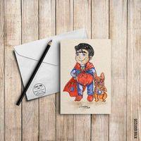 """Открытка """"Супермэн"""" (арт. 235)"""