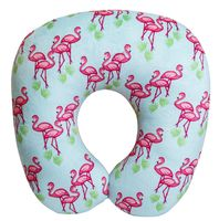 """Подушка под шею """"Дорожные фламинго"""""""