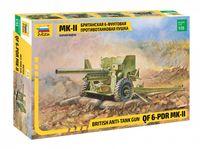 Британская 6-футовая ПТ пушка Мк-II (масштаб: 1/35)