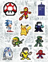 """Набор виниловых наклеек №126 """"Pixel art"""""""