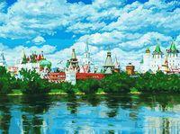 """Картина по номерам """"Русское подворье"""" (300х400 мм)"""