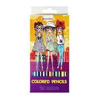 """Цветные карандаши """"Девочки"""" (24 цвета; арт. DV-4801-24)"""