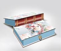 "Подарочная коробка ""Цветы и павлиньи перья"" S (18х12х5 см; арт. 42364)"