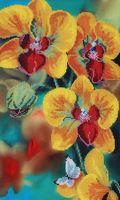 """Вышивка бисером """"Желтая орхидея"""""""