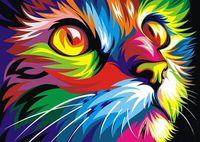 """Картина по номерам """"Ваю Ромдони. Радужный кот"""" (400х500 мм)"""