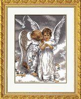 """Вышивка крестом """"Два ангела"""" (240х320 мм)"""
