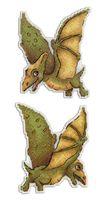 """Вышивка крестом """"Динозавры. Птеродактиль"""" (120х90 мм)"""