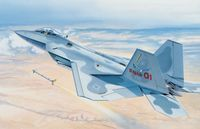 """Сборная модель """"Многоцелевой истребитель F-22 Raptor"""" (масштаб: 1/48)"""