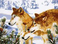 """Картина по номерам """"Волки"""" (400x500 мм; арт. MG205)"""